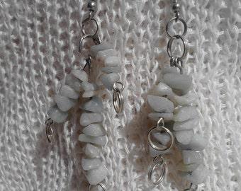 Organic jewelry, eco friendly, earrings from Amazonite , Schmuck organischen, öko Schmuck, Ohrringe, Bio Schmuck
