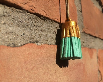 Gold Dipped Tassel Necklace