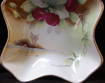 Hand Painted Candy Dish, Serving Bowl (467)