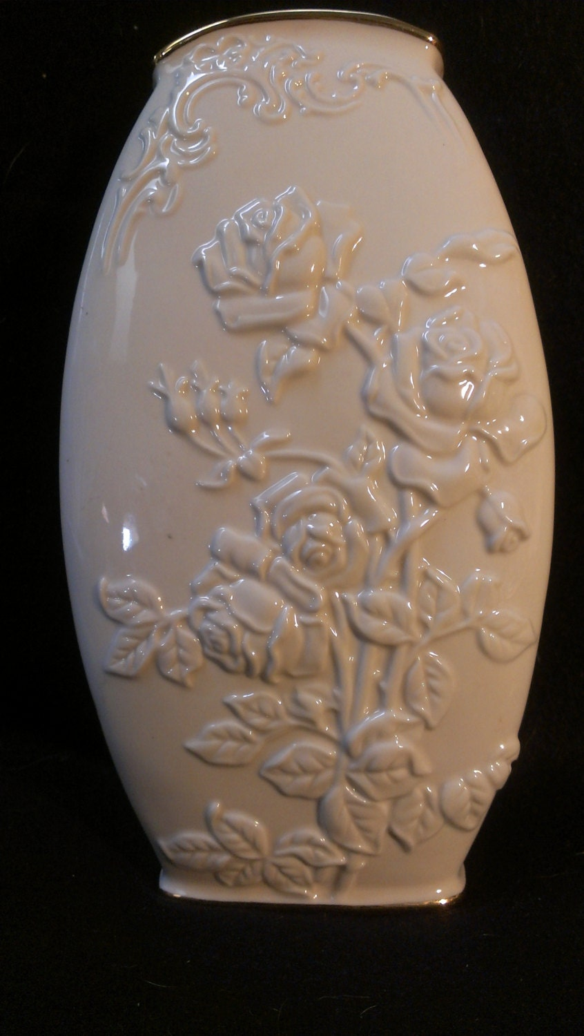 Lenox Rose Pattern Vase 10 By Digginthrutheattic On Etsy