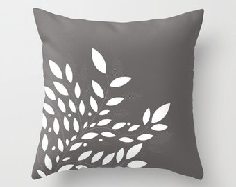Leaf Pillow Personalized Color, 16x16 18x18 20x20, Decorative Woman Birthday Gift Apartment Man Leaves Fall Nature Cute Accent Pillowcases