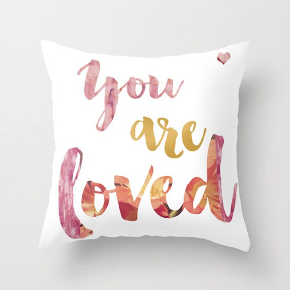 Cute Love Pillows : Quote Pillow - Inspirational Motivational - 2 colors Cover or Insert 16x16 18x18 20x20 ...