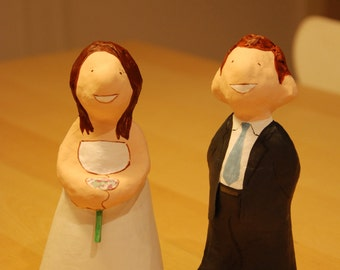 Wedding dolls, customized couple for cake topper, gift