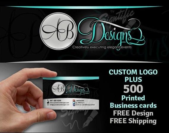 Custom business logo plus 500 printed business cards FREE