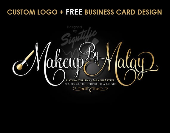 Makeup artist logo free business card design custom makeup like this item reheart Gallery