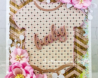 Shabby Chic Welcome Baby Card