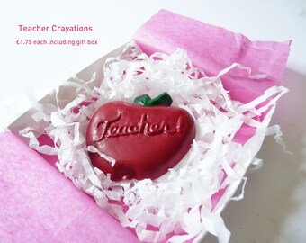 Teacher apple crayon gift