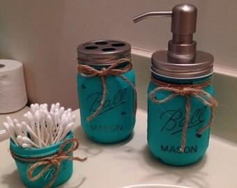 Mason Jar Bathroom Set of 3