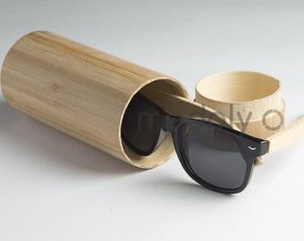 Wooden Sunglasses, Black Wood Sunglasses, Bamboo Wood Sunglasses, Wood Eyewear Wayfarers, Hand Made from Recycled Wood, Woodgrain Wood