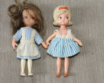 NEW PRICE   Vintage Two Small Dolls, Both have Old Clothing