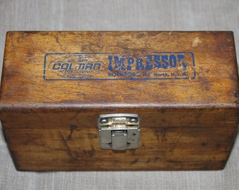 SALE Vintage Barber-Coleman Impressor Hardness Tester CARRYING CASE, Usually Comes With Kit, This Does Not, ReUse as Cigar Case Jewelry Box