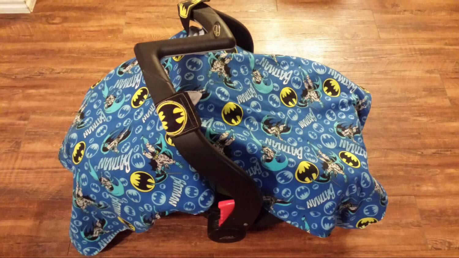 batman fleece car seat cover with batman by noemisknickknacks. Black Bedroom Furniture Sets. Home Design Ideas