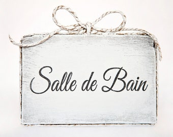 Cute handmade wooden bathroom door sign bathroom home for Plaque de porte wc et salle de bain