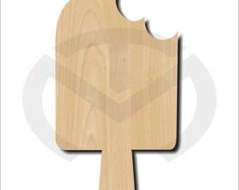 Unfinished Wood Popsicle Laser Cutout, Wreath Accent, Door Hanger, Ready to Paint & Personalize, Various Sizes