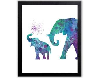 Baby Elephant Decor - Giraffe - Rhino - Elephant Wall Art - EL034