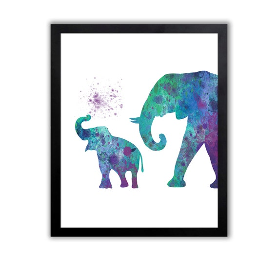 Baby Elephant Decor Giraffe Rhino Elephant Wall Art
