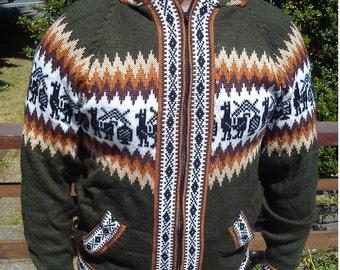 Colourful Alpaca Sweater Hoodie