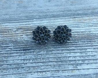 Brown Resin Earrings
