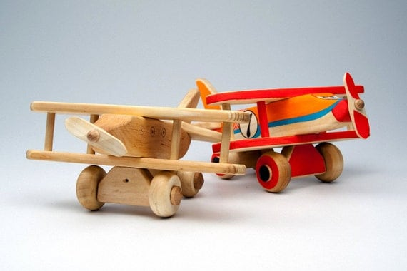 Organic Baby Toys : Wooden airplane organic baby toys active gift by didpanas