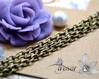 width 3mm Bronze Chains .manuelles for jewelry necklace bracelet