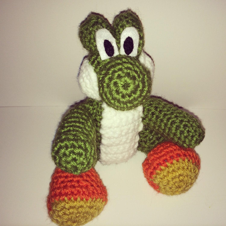 Amigurumi Teddy Bear Crochet Pattern : Amigurumi crochet yoshi doll by KaylaMayDesigns on Etsy