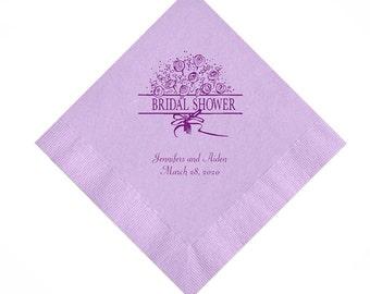 Bridal Shower Personalized Napkins Set of 100 Napkins