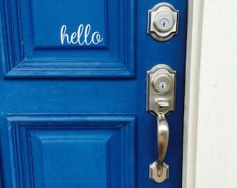 Hello Door Decal / Vinyl