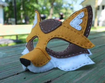 Handstitched Felt Mask, The Fox Mask