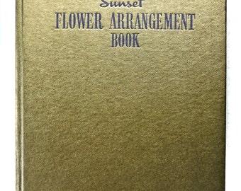 Sunset Flower Arrangement Book Nell True Welch 1950
