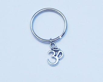 Ohm Keychain, Om Keychain, Aum Keychain, Ohm Charm, Om Charm, Sanskrit Keychain, Sanskrit, Couples Keychains, Yoga Keychain, BFF Keychains