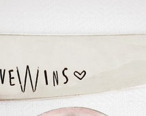 Love Wins, Stamped Butter Spreader, Cheese Knife, Marriage Quality, Unique Gifts, Stamped Knife, Wedding Gift, Love Is Love, Equal Rights
