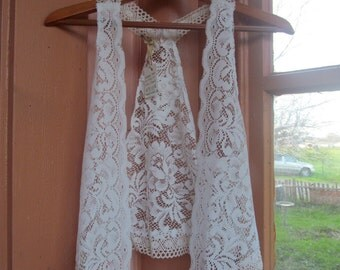 Vintage Lace Vest~Handmade