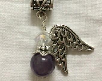 Archangel Jeremiel Pendant - Amethyst