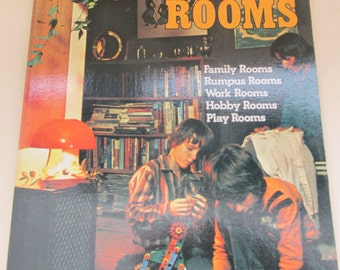 Vintage 1980 Design Book - Leisure Rooms - Family Rooms/Rumpus Rooms/Work Rooms/Hobby Rooms/Play Rooms