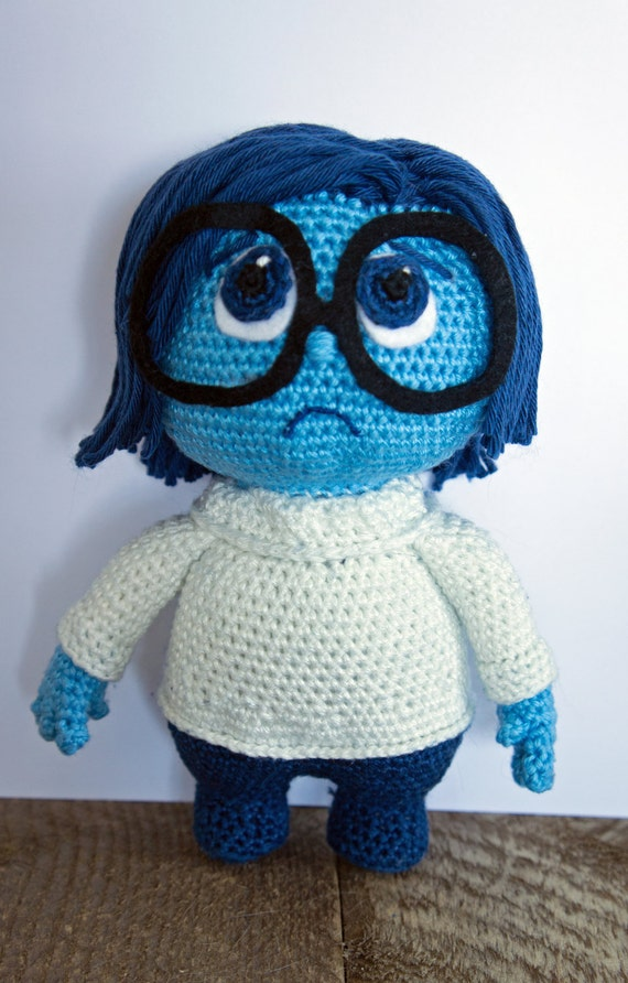 Crocheted Inside Out Sadness by CaitsCrochetedDolls on Etsy