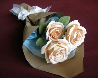 Handmade Paper Rose (Long-Stem Single Rose or Arrangement)