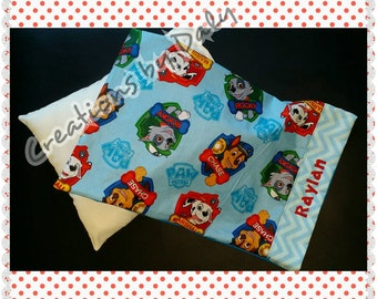 Paw Patrol Personalized Travel Pillow Case and Pillow, Paw Patrol Pillow, Toddler pillow case with pillow, Paw Patrol pillow, HOT SALE!