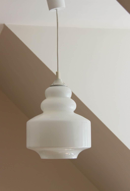 lampe lustre suspension abat jour cylindre vintage verre de. Black Bedroom Furniture Sets. Home Design Ideas