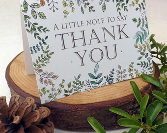 Woodland Walk Folded Thank You Card A6