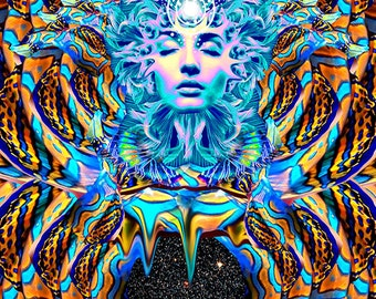 Serenity Poster |  | Visionary, Surreal, Abstract, Trippy Wall Art
