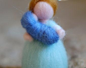 Mamy, earring, wool Waldorf inspired