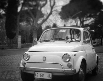 Fiat 500 Print, Rome Photography, Cinquecento Print, Italian Car Print, Vintage Car, Perfect Gift, Vintage Inspired, Fine Art Photography