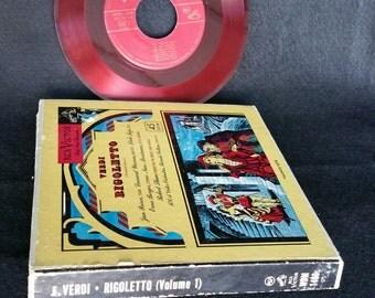 """Red Seal Records: Verdi's """"Rigoletto"""" - Volume One - A Collection with Seven 7 inch 45 RPM records - RARE."""