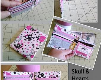 Skulls & Hearts Bi-Fold Duct Tape Wallet
