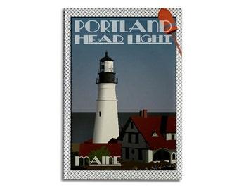 "Magnet: Portland Head Light, Maine, 2 1/8"" x 3 1/8"""