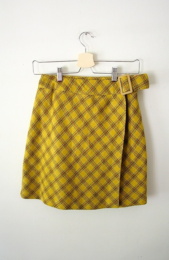 Yellow Plaid Mini Skirt 10