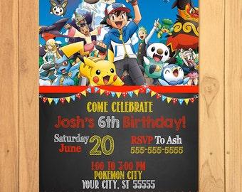 pokemon invitations  etsy, Party invitations