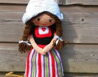 Haakpatroon boerin Marianneke / crochet pattern Marianneke