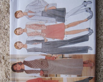 UNCUT Misses Jacket, Vest, Top, Skirt and Pants - Butterick Sewing Pattern 4637