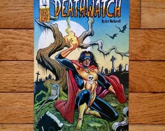 Deathwatch Comic Book - Harrier Comics Deathwatch - Vintage Comic Books